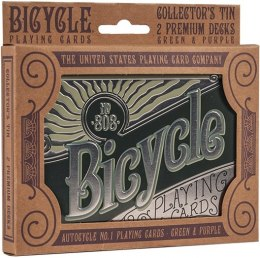 Bicycle: Retro Tin Gift Set Zestaw Kart