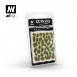 Vallejo SC406 Tufty WILD TUFTS Mixed Green